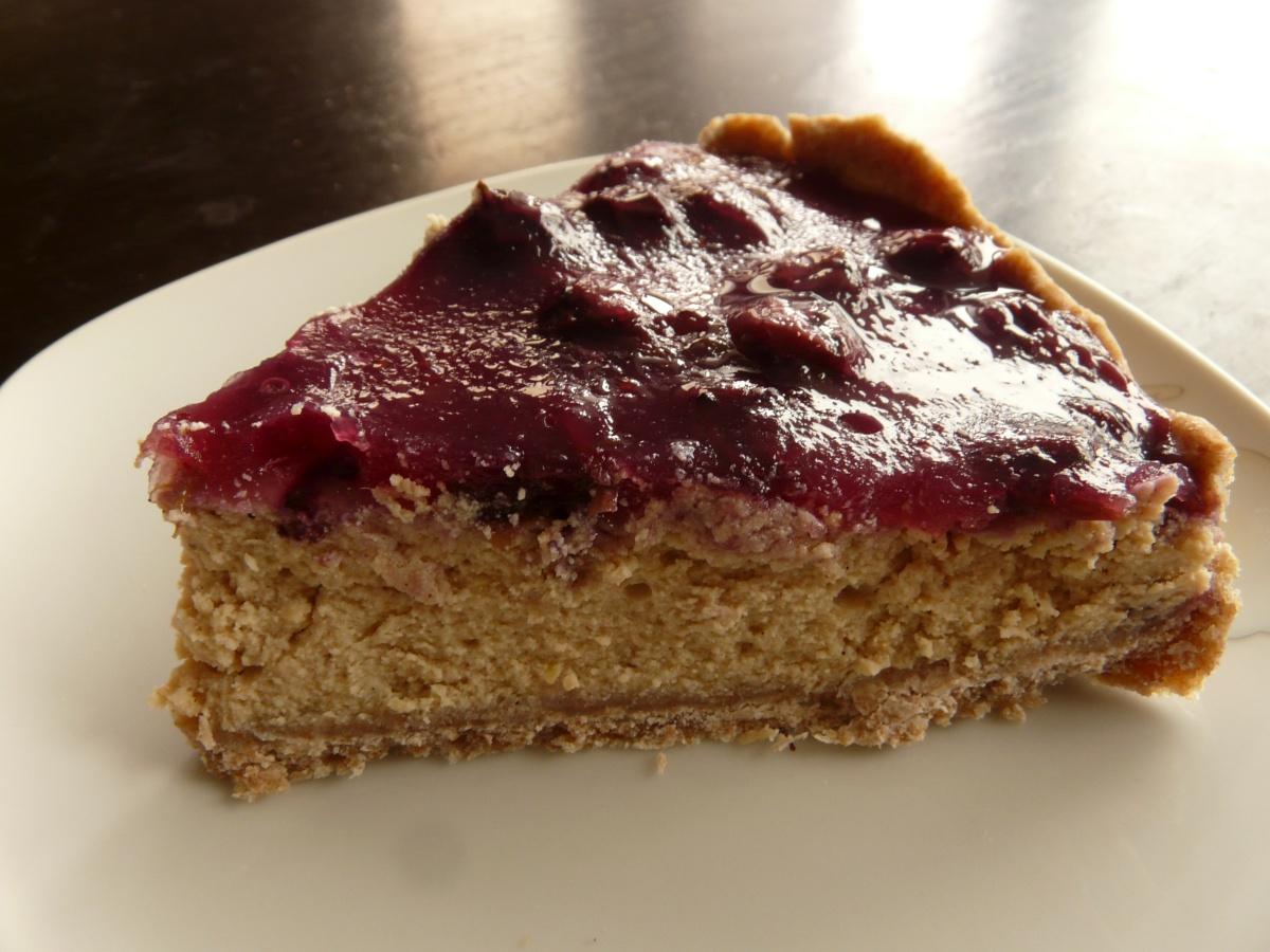 Borůvkový tofu cheesecake