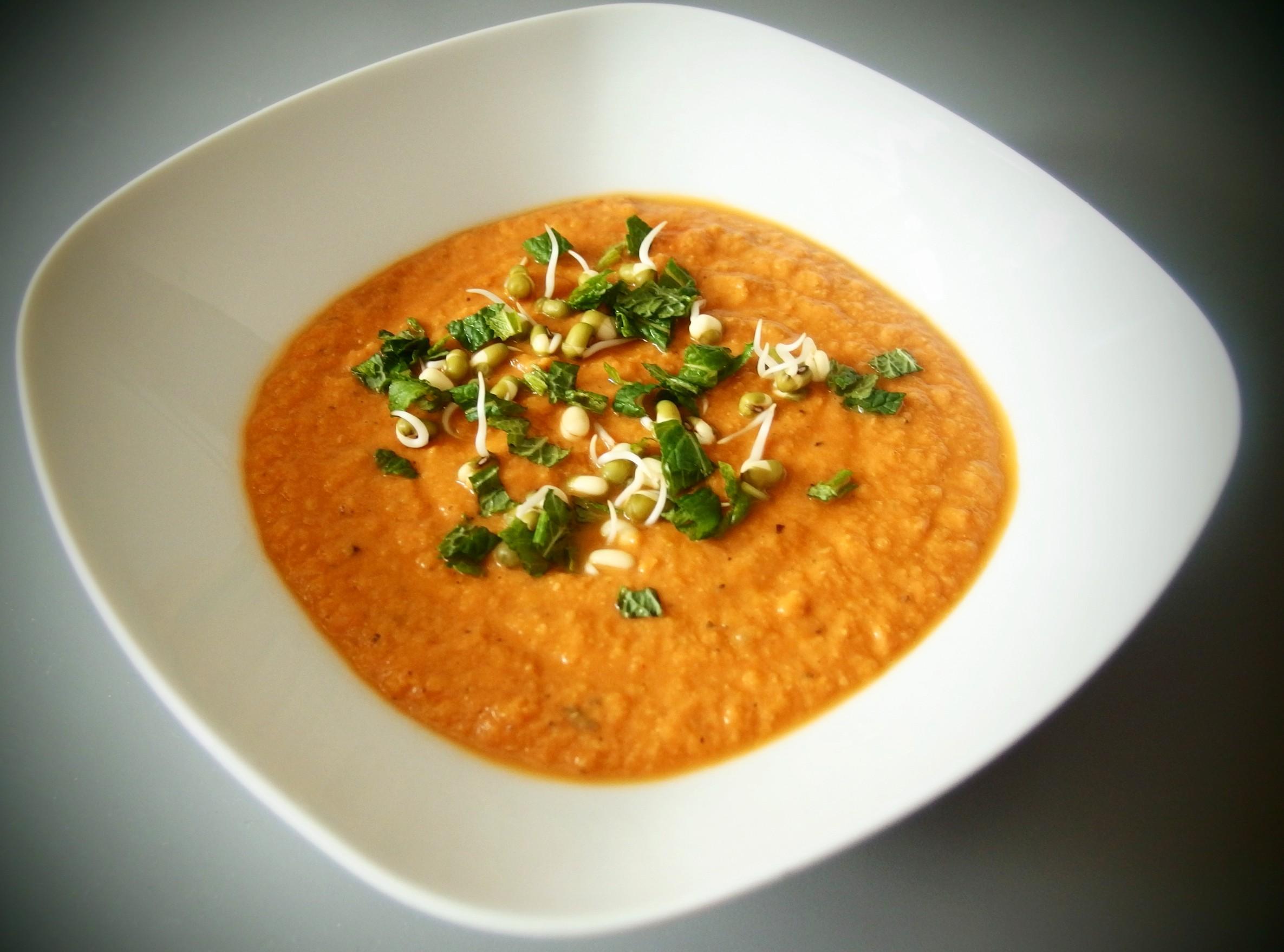 Krémová cizrnová polévka