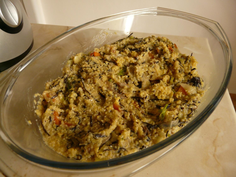 Polenta se zeleninou a řasou arame