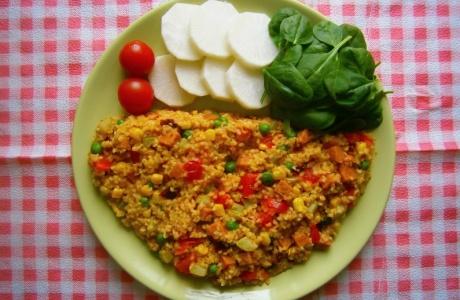 Zeleninové bulgurito s robi
