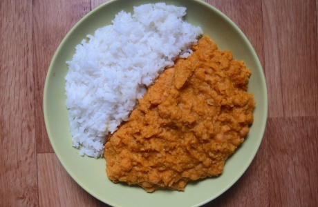 Dýňovo-cizrnové pyré s rýží