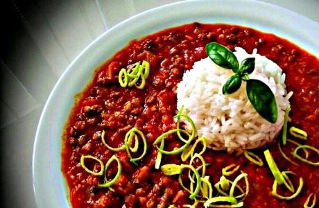 Čočka s jasmínovou rýží