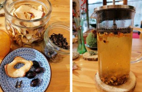 Domácí šípkový čaj