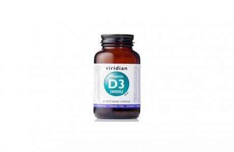Tablety Vitamin D3 (Viridian 2000IU)