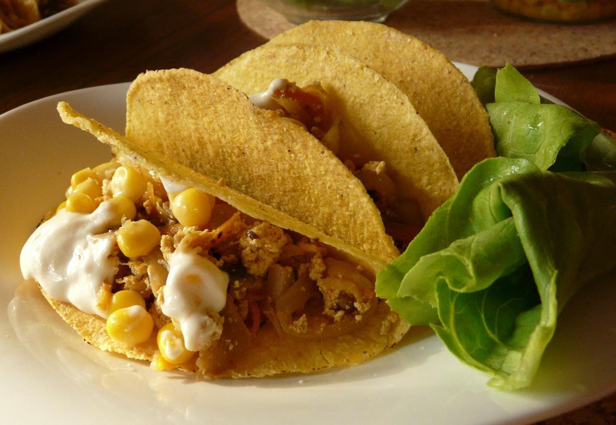 Tacos s tofu-houbovou náplní