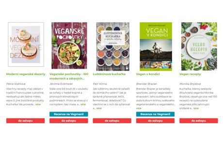 Veganské knihy a kuchařky
