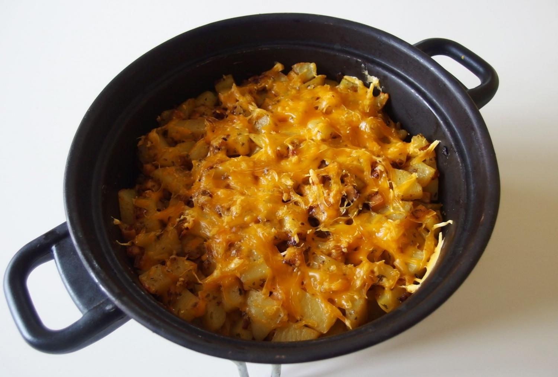 Zapečené brambory s veganským sýrem